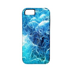 Fractal Occean Waves Artistic Background Apple Iphone 5 Classic Hardshell Case (pc+silicone)