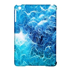 Fractal Occean Waves Artistic Background Apple Ipad Mini Hardshell Case (compatible With Smart Cover)