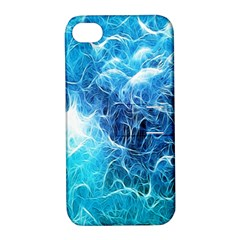 Fractal Occean Waves Artistic Background Apple Iphone 4/4s Hardshell Case With Stand