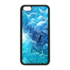 Fractal Occean Waves Artistic Background Apple Iphone 5c Seamless Case (black)