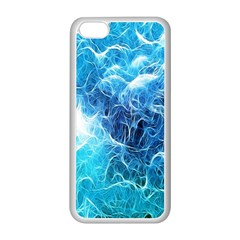 Fractal Occean Waves Artistic Background Apple iPhone 5C Seamless Case (White)