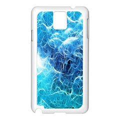 Fractal Occean Waves Artistic Background Samsung Galaxy Note 3 N9005 Case (white)