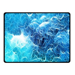 Fractal Occean Waves Artistic Background Double Sided Fleece Blanket (Small)