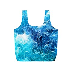 Fractal Occean Waves Artistic Background Full Print Recycle Bags (s)
