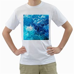 Fractal Occean Waves Artistic Background Men s T Shirt (white)