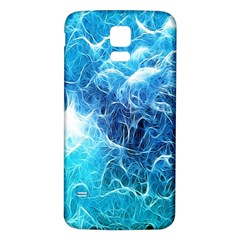 Fractal Occean Waves Artistic Background Samsung Galaxy S5 Back Case (White)