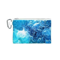 Fractal Occean Waves Artistic Background Canvas Cosmetic Bag (s)