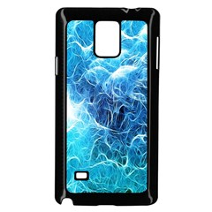Fractal Occean Waves Artistic Background Samsung Galaxy Note 4 Case (black)