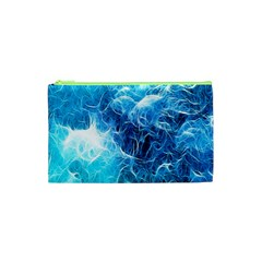 Fractal Occean Waves Artistic Background Cosmetic Bag (XS)