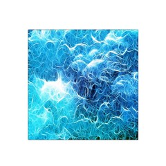 Fractal Occean Waves Artistic Background Satin Bandana Scarf