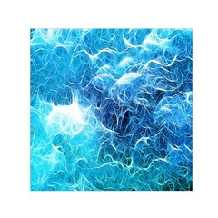 Fractal Occean Waves Artistic Background Small Satin Scarf (square)