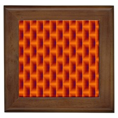 Fractal Multicolored Background Framed Tiles