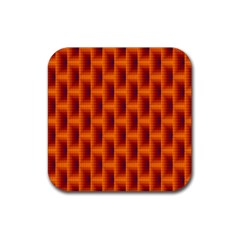 Fractal Multicolored Background Rubber Square Coaster (4 Pack)