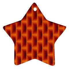 Fractal Multicolored Background Star Ornament (two Sides)