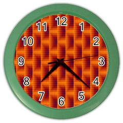 Fractal Multicolored Background Color Wall Clocks