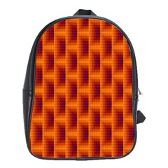 Fractal Multicolored Background School Bags(large)