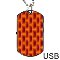 Fractal Multicolored Background Dog Tag Usb Flash (two Sides)