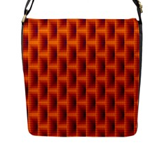 Fractal Multicolored Background Flap Messenger Bag (l)