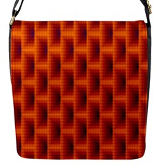 Fractal Multicolored Background Flap Messenger Bag (s)