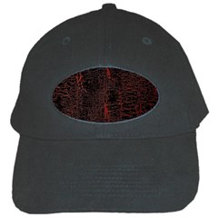 Black And Red Background Black Cap