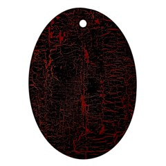 Black And Red Background Ornament (oval)