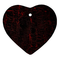 Black And Red Background Ornament (heart)