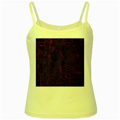 Black And Red Background Yellow Spaghetti Tank