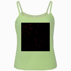 Black And Red Background Green Spaghetti Tank