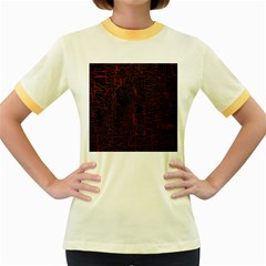 Black And Red Background Women s Fitted Ringer T Shirts
