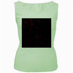 Black And Red Background Women s Green Tank Top