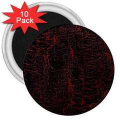 Black And Red Background 3  Magnets (10 Pack)