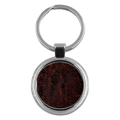 Black And Red Background Key Chains (round)