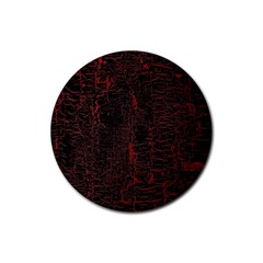 Black And Red Background Rubber Round Coaster (4 Pack)