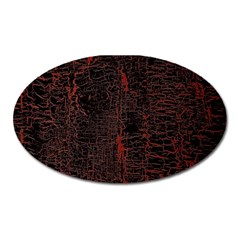 Black And Red Background Oval Magnet