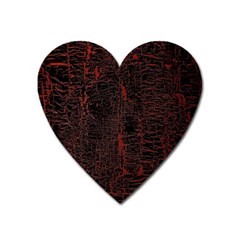 Black And Red Background Heart Magnet