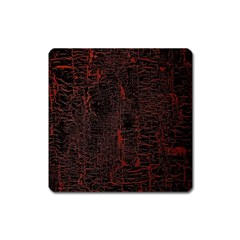 Black And Red Background Square Magnet