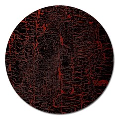 Black And Red Background Magnet 5  (round)