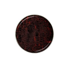 Black And Red Background Hat Clip Ball Marker (10 Pack)