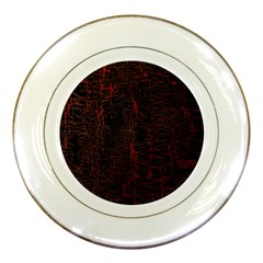 Black And Red Background Porcelain Plates