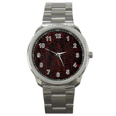 Black And Red Background Sport Metal Watch