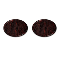 Black And Red Background Cufflinks (oval)