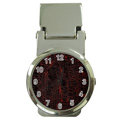 Black And Red Background Money Clip Watches
