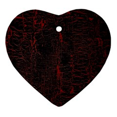 Black And Red Background Heart Ornament (Two Sides)