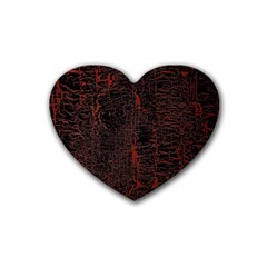 Black And Red Background Heart Coaster (4 Pack)