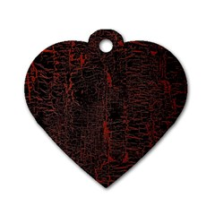 Black And Red Background Dog Tag Heart (two Sides)