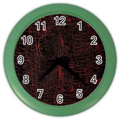 Black And Red Background Color Wall Clocks