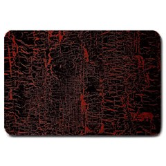 Black And Red Background Large Doormat