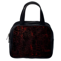 Black And Red Background Classic Handbags (one Side)