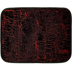 Black And Red Background Fleece Blanket (mini)
