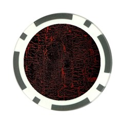 Black And Red Background Poker Chip Card Guard (10 Pack)